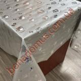 8307 B Клейонка ПВХ на тканинній основі шовкографія золото/срібло 1,40*20м