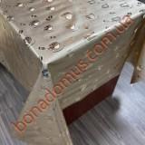 8307 F Клейонка ПВХ на тканинній основі шовкографія золото/срібло 1,40*20м