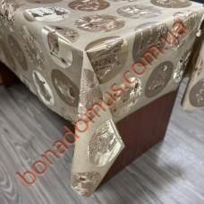 102 C-LG Клейонка ПВХ на тканинній основі шовкографія золото/срібло 1,40*20м