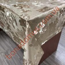 108 C-LG Клеенка ПВХ на тканной основе шелкография золото/серебро 1,40*20м