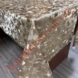 109 C-LG Клеенка ПВХ на тканной основе шелкография золото/серебро 1,40*20м
