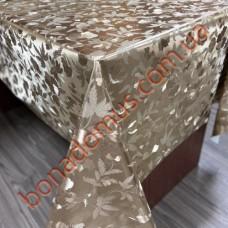 109 C-LG Клеенка ПВХ на тканевой основе шелкография золото/серебро 1,40*20м