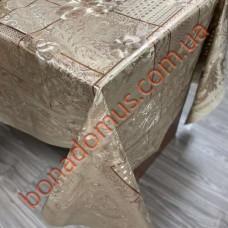 104 C-LG Клеенка ПВХ на тканевой основе шелкография золото/серебро 1,40*20м