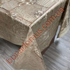 104 C-LG Клеенка ПВХ на тканной основе шелкография золото/серебро 1,40*20м