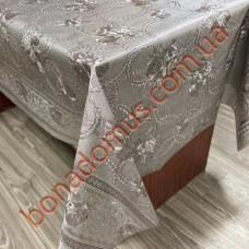 112 G-S Клейонка ПВХ на тканинній основі шовкографія золото/срібло 1,40*20м