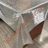 118 G-S Клейонка ПВХ на тканинній основі шовкографія золото/срібло 1,40*20м