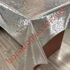118 G-S Клеенка ПВХ на тканной основе шелкография золото/серебро 1,40*20м