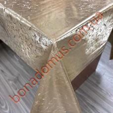 118 C-LG Клеенка ПВХ на тканевой основе шелкография золото/серебро 1,40*20м