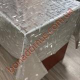 8308 B Клейонка ПВХ на тканинній основі шовкографія золото/срібло 1,40*20м