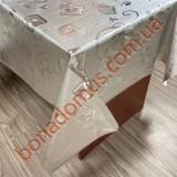8812 B Клейонка ПВХ на тканинній основі шовкографія золото/срібло 1,40*20м