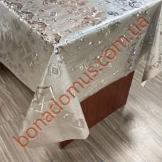 8816 B Клейонка ПВХ на тканинній основі шовкографія золото/срібло 1,40*20м