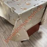 8830 BF Клейонка ПВХ на тканинній основі шовкографія золото/срібло 1,40*20м