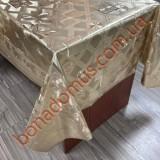 8831 F Клейонка ПВХ на тканинній основі шовкографія золото/срібло 1,40*20м