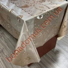 8832 BF Клейонка ПВХ на тканинній основі шовкографія золото/срібло 1,40*20м