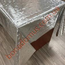 8901 B Клейонка ПВХ на тканинній основі карбована золото/срібло 1,40*20м