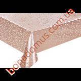 8901 F Клейонка ПВХ на тканинній основі карбована золото/срібло 1,40*20м