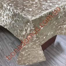 8399 F  Клеенка ПВХ на тканной основе шелкография золото/серебро 1,40*20м