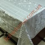 8408 B Клеенка ПВХ на тканной основе шелкография золото/серебро 1,40*20м