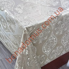 8401 F Клеенка ПВХ на тканной основе шелкография золото/серебро 1,40*20м