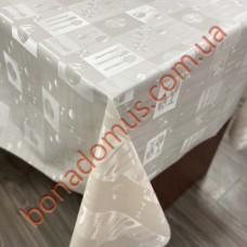 8402 Клейонка ПВХ на тканинній основі однотонна карбована 1,40*20м