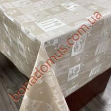 8402 А3 Клейонка ПВХ на тканинній основі однотонна карбована 1,40*20м
