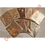 Скатерти  силикон 2-х сторонняя серебро/золото0,95*140 м по 10