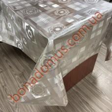 8203 B Клейонка ПВХ на тканинній основі карбована золото/срібло 1,40*20м