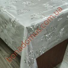 8226 B Клейонка ПВХ на тканинній основі карбована золото/срібло 1,40*20м