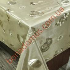 8222 F Клейонка ПВХ на тканинній основі карбована золото/срібло 1,40*20м