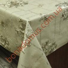 8223 F Клеенка ПВХ на тканной основе чеканная золото/серебро 1,40*20м