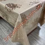8432 FK Клейонка ПВХ на тканинній основі шовкографія золото/срібло 1,40*20м
