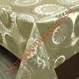 8421 F Клейонка ПВХ на тканинній основі шовкографія золото/срібло 1,40*20м