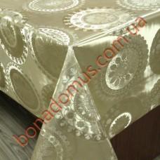 8421 F Клеенка ПВХ на тканной основе шелкография золото/серебро 1,40*20м