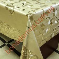 8093 F Клеенка ПВХ на тканной основе шелкография золото/серебро 1,40*20м