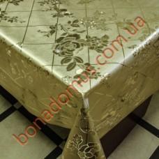 8098 F Клейонка ПВХ на тканинній основі шовкографія золото/срібло 1,40*20м
