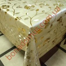 8639 FB Клеенка ПВХ на тканевой основе шелкография золото/серебро 1,40*20м