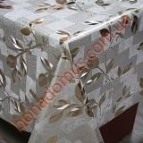 8090 BF Клейонка ПВХ на тканинній основі карбована золото/срібло 1,40*20м