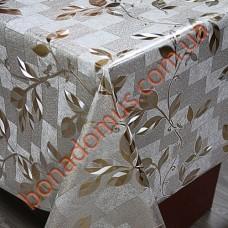 8090 BF Клеенка ПВХ на тканной основе чеканная золото/серебро 1,40*20м