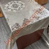 8706 F Клеенка ПВХ на тканной основе шелкография золото/серебро 1,40*20м