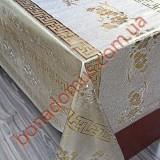 8092 BF Клейонка ПВХ на тканинній основі шовкографія золото/срібло 1,40*20м