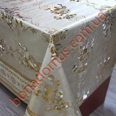 8099 BF Клейонка ПВХ на тканинній основі шовкографія золото/срібло 1,40*20м