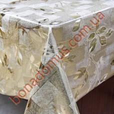 8090 F Клеенка ПВХ на тканной основе шелкография золото/серебро 1,40*20м