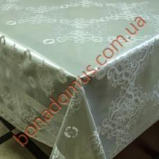 8401 B Клеенка ПВХ на тканной основе шелкография золото/серебро 1,40*20м