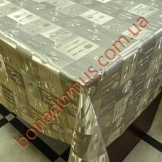 8402 F Клейонка ПВХ на тканинній основі шовкографія золото/срібло 1,40*20м