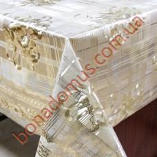 8857 F Клейонка ПВХ на тканинній основі шовкографія золото/срібло 1,40*20м