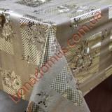 8171 FH Клеенка ПВХ на тканной основе шелкография золото/серебро 1,40*20м