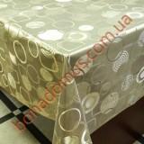 8407 F Клейонка ПВХ на тканинній основі шовкографія золото/срібло 1,40*20м
