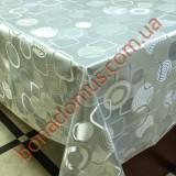 8407 B Клейонка ПВХ на тканинній основі карбована золото/срібло 1,40*20м