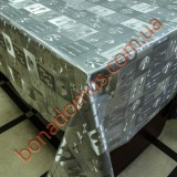 8402 B Клеенка ПВХ на тканной основе шелкография золото/серебро 1,40*20м