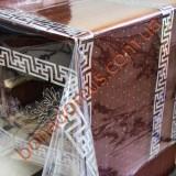 1375 B Клеенка ПВХ прозрачный силикон